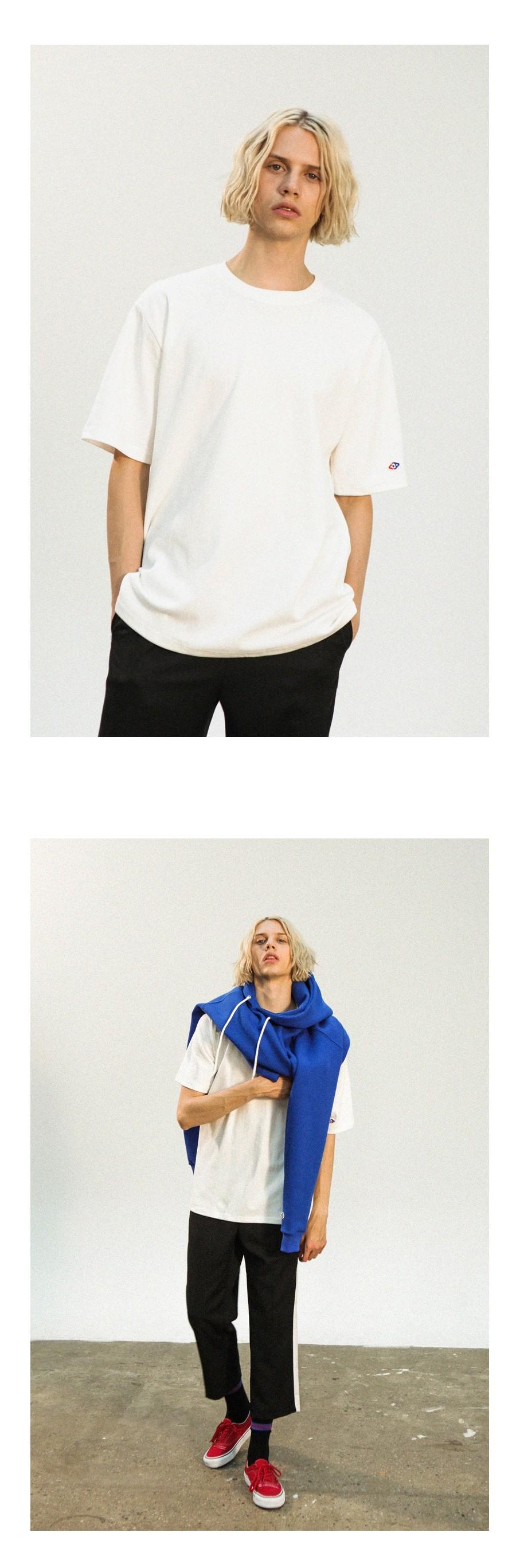 어커버(ACOVER) 더블 코튼 롱 티셔츠