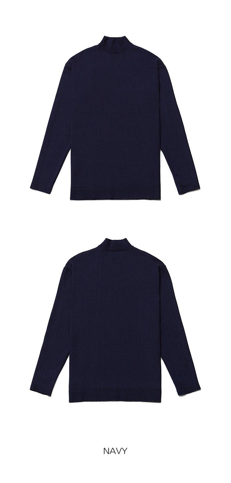 어커버(ACOVER) [세트상품]베이직 하프넥 니트