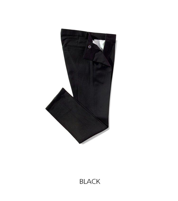 어커버(ACOVER) 10부 스탠다드 핏 스판 슬랙스 블랙