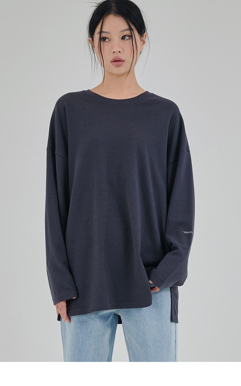 어커버(ACOVER) [세트상품]포인트 오버핏 롱티셔츠